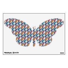 yin-yang butterfly room decals