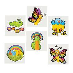 36 SPRING BABY Insect Animal TATTOOS 3 Dozen Kid Child Birthday Party Favors FUN #FunExpress #BirthdayChild