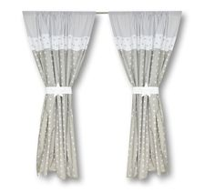 gardinen set wolke voile grau je 130 x 150 cm 2 schals kinderzimmer ideen pinterest. Black Bedroom Furniture Sets. Home Design Ideas