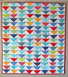 Flying Geese Baby Quilt