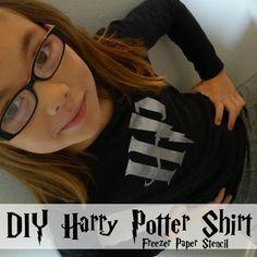 DIY Harry Potter Shirt - Freezer Paper Stencil