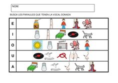 Fitxes per treballar la consciència fonològica Catalan Language, Clu, Sons, Comics, School, Valencia, Rhyming Words, Dyscalculia, Speech Therapy