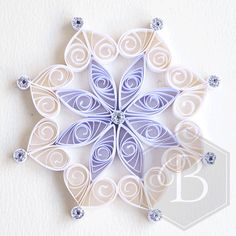 Quilled snowflake tree decoration Christmas decoration