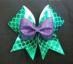 Little Mermaid Cheer Bow by FullOutBowtique on Etsy