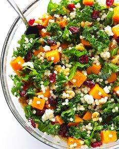 Butternut Squash, Kale & Cranberry Couscous Salad via @feedfeed on https://thefeedfeed.com/kale-salads/gimmesomeoven/butternut-squash-kale-cranberry-couscous-salad