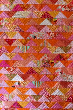 flock of triangles quilt