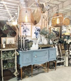 """Jenni and Jared Bowlin on Instagram: """"WE ARE OPEN ... here @vintagemarketdaysnctriangle ! Find us under the caribou in the center of the arena. Event is all indoors so shop cool…"""" Furniture Logo, Metal Furniture, Furniture Projects, Painted Furniture, Den Decor, Home Decor, Antique Booth Ideas, Barn Shop, Vintage Display"""