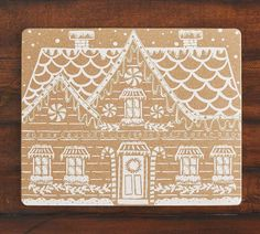 Metallic Gingerbread House Cork Placemats - Set of 4 | Pottery Barn