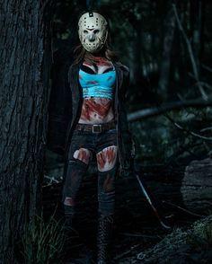 Happy Friday the 13th from  my amazing cosplay model @missmandykins as Jason…