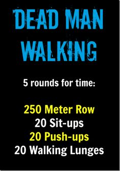 dead man walking WOD from Crossfit 781 Crossfit Wods, Crossfit At Home, Rowing Wod, Rowing Crew, Crossfit Routines, Crossfit Chicks, Rower Workout, Gym Workouts, At Home Workouts