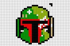 Cross Stitch Games, Cross Stitch Patterns, Perle Hama Star Wars, Easy Pixel Art, Hamma Beads Ideas, Character Template, Star Wars Crochet, Star Wars Crafts, Pixel Art Templates