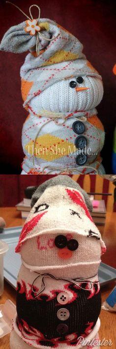 ¿Qué tal si hacemos un muñeco de nieve con calcetines? #CraftFail