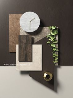 A moodboard is always an inspiration! Material Board, Trendy Home, Colour Schemes, Mood Boards, Design Trends, Design Design, Decoration, Interior And Exterior, Interior Decorating