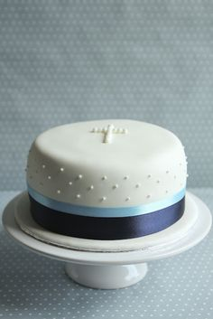 Simple baptism cake - I really like this one.