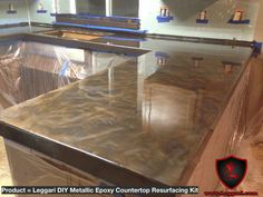 #diy #metallic #epoxy #countertop #resurfacing #kits are #easy to #install and are #industrial grade #resins #countertopcoating #countertopresurfacing #metallicepoxy #metallicepoxycoating #kitchenremodel #kitchencountertops