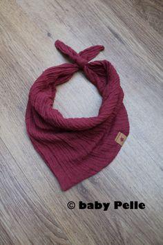 Halstücher - Baby Halstuch Musselin Baumwolle rot rostrot - ein Designerstück von babyPelle bei DaWanda