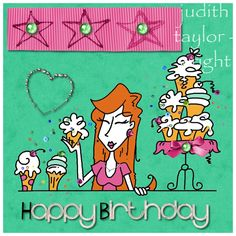 Colour Challenge - Birthday Bling - Digi Bugaboo - other Digital Elements Daisy Trail