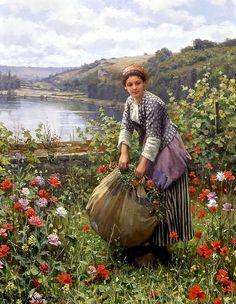 The Grass Cutter (c. 1895)   By Daniel Ridgway Knight (American, 1839 - 1924)