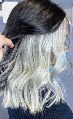 Hair Color Streaks, Hair Dye Colors, Hair Color For Black Hair, Cool Hair Color, Hair Highlights, Under Hair Dye, Hair Inspo, Hair Inspiration, Underdye Hair