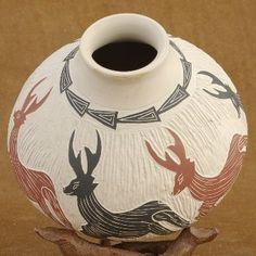 Hand Coiled Mata Ortiz Pottery.  See more at www.cimarronrivercompany.com