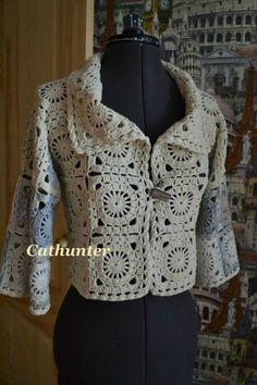 Crochet une veste demi-saison en granny - la Grenouille tricote