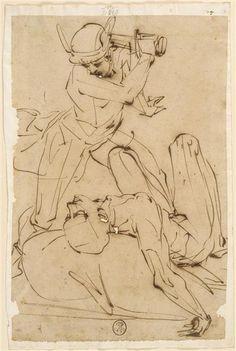 Luca Cambiaso, Mercure s'apprêtant à trancher la tête d'Argus Human Figure Drawing, Figure Sketching, Figure Drawing Reference, Guy Drawing, Life Drawing, Drawing Sketches, Painting & Drawing, Art Drawings, Anatomy Reference