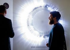 Interactive lighting installation from Haberdashery wowed the crowds on the first floor designjunction2015 highlights