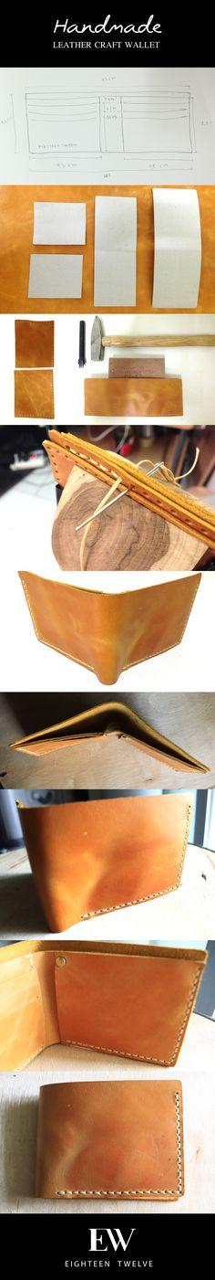 Handmade leather craft wallet