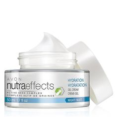 nutraeffects Hydration Night Gel Cream Contact http://www.youravon.com/cbrenda007 to Shop and learn more.