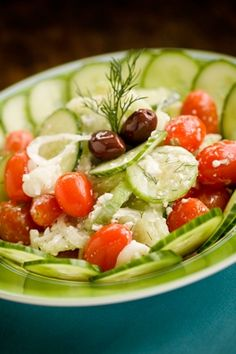 I use green olives in place of Kalamata Paula Dean uses. This is so easy to make and fits any occasion