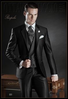 Traje de novio negro modelo 889 ONGala wedding suits