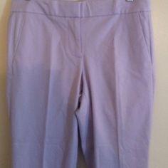 NWT J.Crew pants Light lavender cotton blend flat front pants. J. Crew Pants