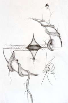 Amy Lee's drawing of the Evanescence logo