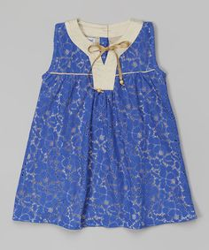 Look at this Papalotes Blue Lace Guipure Tunic - Infant, Toddler
