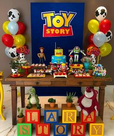 Fiesta de Toy Story 4 - Toys for years old happy toys Toy Story Dulceros, Toy Story Baby, Toy Story Theme, Toy Story Cakes, Toy Story Birthday, 4th Birthday Parties, Birthday Party Decorations, 2nd Birthday, Cowboy Birthday