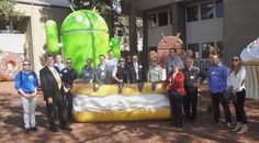 David Eccles School of Business alumni and students take a tour of the Google campus.
