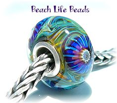 TRANQUIL OPAL Fully Lined Sterling Silver Big by beachlifebeads, $27.00