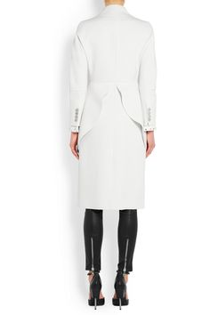 Givenchy | Peplum coat in wool-crepe | NET-A-PORTER.COM