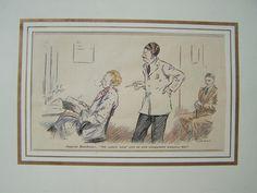 °Herrenfriseur° Original von 1930 Karikatur von Sammel-Leidenschaft auf DaWanda.com