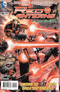 Wrath of the First Lantern Part 12 - The Death of Atrocitius __Written By Peter Milligan , Art Will Conrad, Cover Art Miguel Angel Sepulveda , All the rage of the Red Lantern Corps is focused on one t