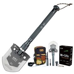 MTech USA MT-AXE14 Camping Axe, Black Stainless Steel, Cord-Wrapped Handle, 17.5-Inch Overall