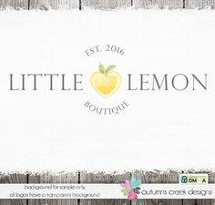 lemon logo premade logo design nutritionist logo by autumnscreek
