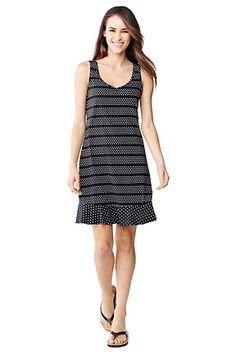Women's Swim Cover-Up Flounce Dress from Lands' End