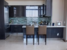 Contemporary- love the backsplash!