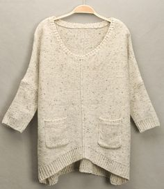 Love this oversized sweater to pair with jeans and boots