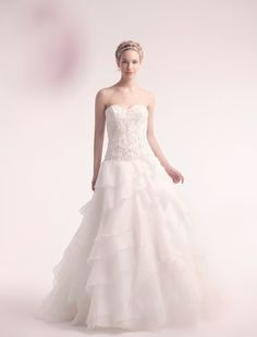 Alita Graham - Sweetheart Ball Gown in Beaded Embroidery