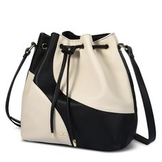 Vbiger Bucket Bag Hobo Bags PU Leather Handbag Shoulder Crossbody Tote Bag For Women (Black White). Made of high-quality pu leather with litchi pattern and stitching colors, make the shoulder bag more unique and trendy. Drawstring and snap closure ensure the security of the belongings and convenient to take out. Adjustable long shoulder strap, can be used as a tote bag, shoulder bag or messenger bag. Delicate sewing craft with thick needle and thread, provide added durability. Large…