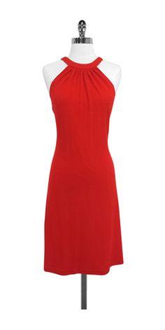 Celine Red Sleeveless Dress