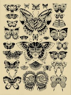 Love all these designs - Traditional Tattoo