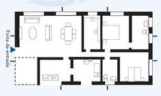 Feng shui na pr�tica Como aplicar o ba-guá na planta Casa e Decora��o Feng shui Floor Plans, Diagram, Flooring, How To Plan, Blog, Feng Shui Decorating, Entry Doors, Creativity, Style